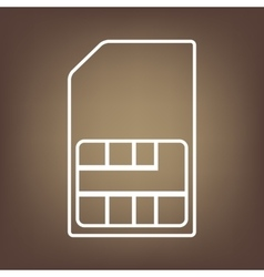 Line icon on the brown background vector