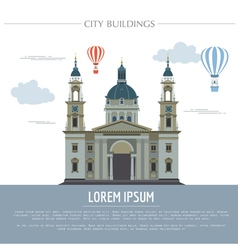City buildings graphic template st istvan vector
