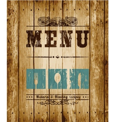 Menu card vector image