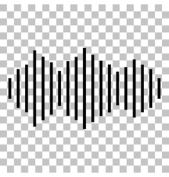 Sound waves icon vector