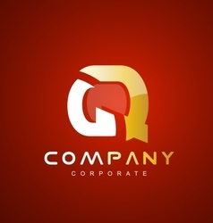 Alphabet letter q red logo icon design vector