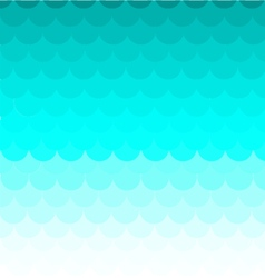 Background Fish scales pattern blue vector image