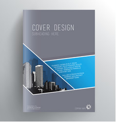 book cover design template with skyscrapers vector image