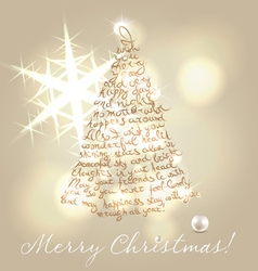 Christmas wishing post card vector image vector image