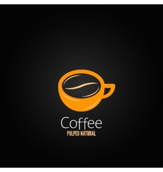 coffee cup bean concept design background vector image vector image