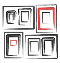 collection grunge frames set elements vector image vector image