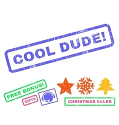 Cool dude rubber stamp vector