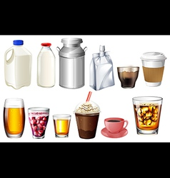 Different storage and containers vector