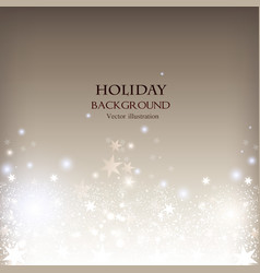 Elegant Christmas shining background with stars vector image vector image