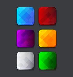 Empty web icons set vector image vector image