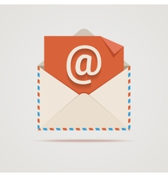 Envelope with email sign vector
