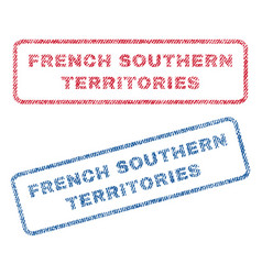 French southern territories textile stamps vector