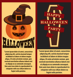 happy halloween postersset vector image vector image