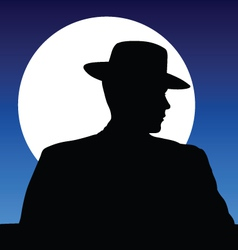 Hat and moonlight vector