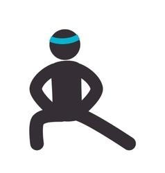 Human figure fitness icon vector