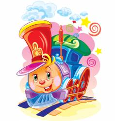 magic steam locomotive vector image vector image