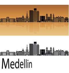 Medellin skyline vector