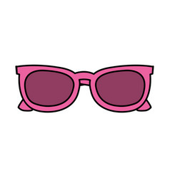pink sunglasses frame fashion trendy accessory vector image