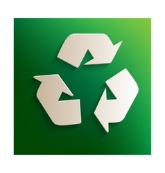 Recycle logo sign vector image vector image
