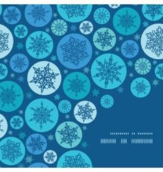 round snowflakes Christmas snowflake silhouette vector image