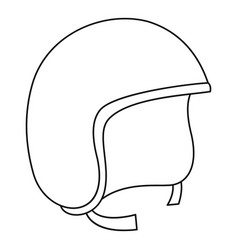 Segway helmet icon outline style vector