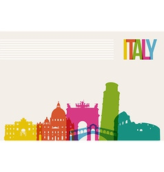Travel Italy destination landmarks skyline vector image vector image