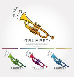 Trumpet logo vector
