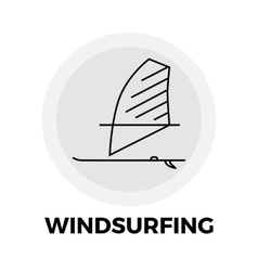 Windsurfing line icon vector