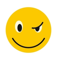 Devious smiley icon flat style vector