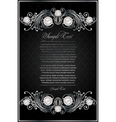 Antique black background vector