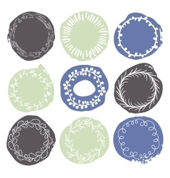 Set of 9 decorative wedding or romantic elements vector