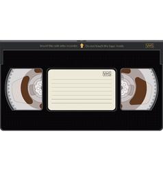 Videocassette vector image