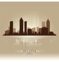 Atlanta georgia skyline city silhouette vector