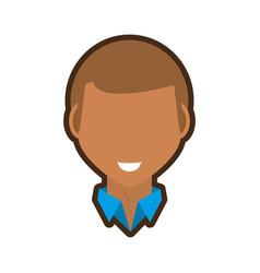 head guy smile image vector image
