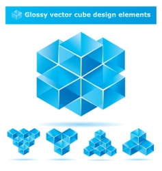 Cube design elements vector