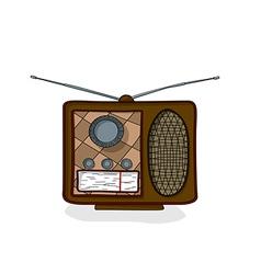 Cartoon radio drawing vector image