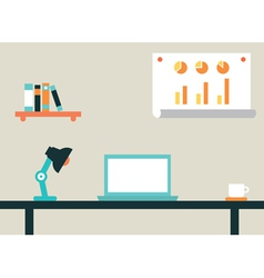 Flat of workspace interior for network vector