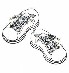 children's sneakers vector image