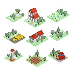 Detailed of a isometric farm vector