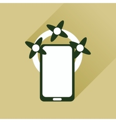 Flat web icon with long shadow mobile phone vector