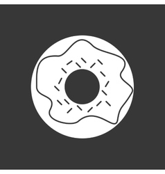 Donut icon design vector