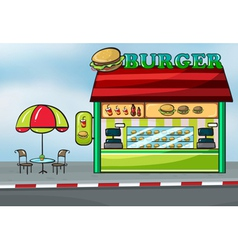 A fast food restaurant vector image