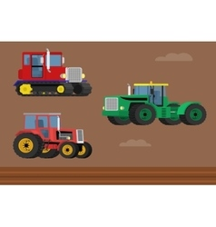 Agricultural tractor vector