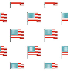 American flag pattern seamless vector