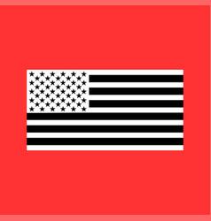 American flag white color icon vector