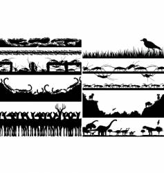 animal foregrounds vector image vector image