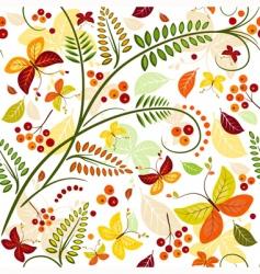 autumn pattern vector image