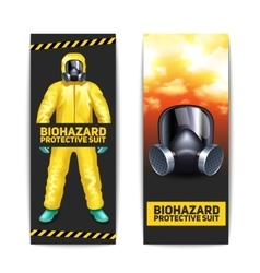 Biohazard banners set vector