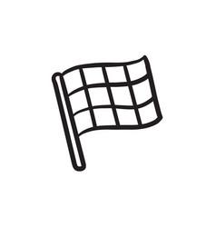 Checkered flag sketch icon vector