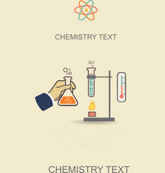 Chemistry infographic poster vector